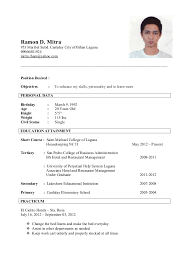 maid resume samples   tahu i love what you do for resumehousekeeping resume sample gallery photos