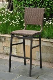 wicker bar height dining table: barcelona resin wicker outdoor bar height chairs stools set of