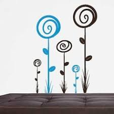 sun wall decal trendy designs: loopy flower wall decals flower decals trendy wall designs
