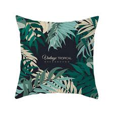 Elife <b>Retro Green Leaves Cactus</b> Polyester Cushion Case Home ...