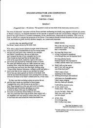 ap literature open essay questions ap literature prose essay examples