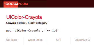 UIColor-<b>Crayola</b> on CocoaPods.org