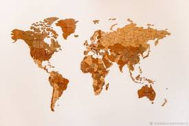 <b>Деревянная карта мира World</b> Map True Puzzle Exclusive edition ...