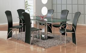 metal dining room chairs chrome: kitchen dining table sets minimalist design metal dining table