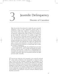 juvenile delinquency theories of causation