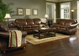 leather living room furniture in living room with brown leather sofa home design and decorating ideas brown furniture wall color