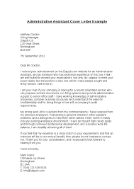Example Cover Letter For Administrative Assistant  grants     cover letter for administrative assistant job  Resume Example Resume Cover Letter Example Cover Letter Examples       cover letter for
