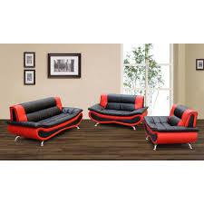 firestone red black 2 tone bonded leather furniture sofa living modern room set black and red furniture