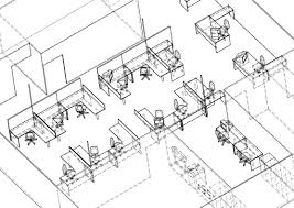 3d cadcam modelling office layout positioning cad office space layout