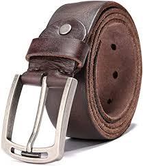 <b>Men's</b> 100% Italian <b>Cow Leather</b> Belt <b>Men</b> With Anti-Scratch Buckle ...