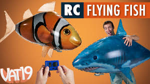 Air Swimmers <b>Remote</b> Control <b>Flying Fish</b> - YouTube