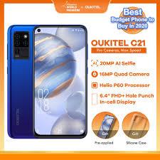 <b>OUKITEL C21</b> 4GB 64GB <b>Android 10.0</b> Helio P60 Octa Core ...