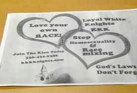 valentine s day themed kkk recruitment underway in upstate ny kkk flyers
