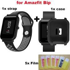 For Xiaomi Huami Amazfit Bip Bracelet Strap Case 20mm <b>Silicone</b> ...