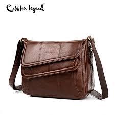 <b>Cobbler Legend</b> Flap Genuine Leather Bag Female Leather Handb ...
