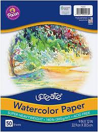 UCreate Watercolor Paper, White, Package, 140 lb., 9 ... - Amazon.com
