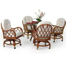 casual dining chairs with casters: jamaica swivel tilt table and chairs
