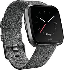 <b>Fitbit Versa</b> Special Edition <b>Smartwatch</b>, Charcoal Woven, One Size ...