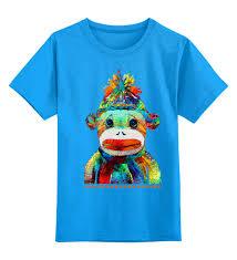 """Детская футболка классическая унисекс """"<b>Обезьяна</b>. Символ 2016 ..."""