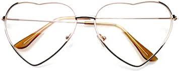 Premium Womens Cute <b>Metal Frame Heart Shape</b> Sunglasses ...