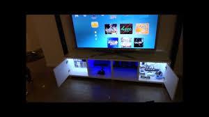 <b>TV Cabinet</b> Custom <b>LED</b> Lighting - YouTube