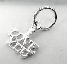 <b>Подвеска</b> серебряная I <b>LOVE YOU</b>, шарм <b>подвеска</b> серебро 925 ...