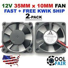 5pcs gdstime 35mm 35x35x10mm 24v 2pin dual ball bearing mirco brushless dc cooling cooler fan