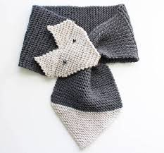 <b>Fox Scarf</b> Knitting Pattern- women & child sizes - Gina Michele
