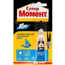 <b>Клей секундный</b> Момент <b>Супер</b> - <b>Гель</b> 3 г купить по цене 129 руб ...