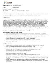 front desk assistant resume   sales   assistant   lewesmrsample resume  office assistant resume for job description