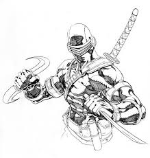 Small Picture GI Joe Sketch of Snake Eyes Coloring Pages Batch Coloring