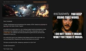 "Elite Dangerous ""exclusively on Xbox One"" ... : pcmasterrace via Relatably.com"