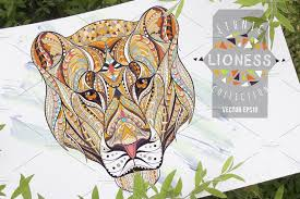 <b>Ethnic</b> Collection: <b>Lion</b> | Pre-Designed Illustrator Graphics ~ Creative ...