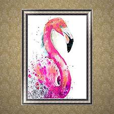 Nuohuilekeji Round <b>DIY</b> Resin <b>Diamond</b> Painting Flamingo <b>Bird</b> ...