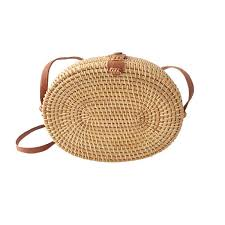 Handmade Oval Rattan Woven <b>Bag</b> Fashion Messenger <b>Bags</b> ...