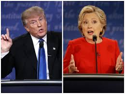 Image result for hillary vs trump