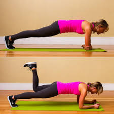 Image result for woman plank glute kickback workout