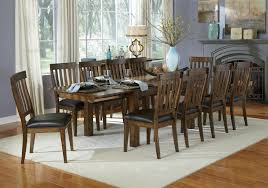 11 Piece Dining Room Set 11 Piece Dining Table And Slatback Chairs Set By Aamerica Wolf