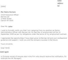 can you email a resignation letter  example of resignation letter    example of resignation letter sample