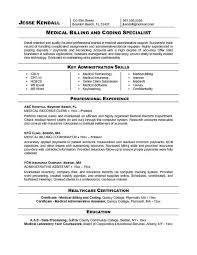 medical billing and coding resume examples duties of medical biller