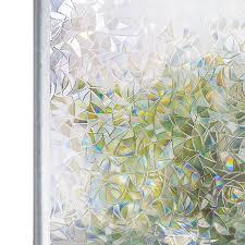 Tinted <b>3D</b> No Glue Static Decorative Privacy <b>Window</b> Rainbow Films ...