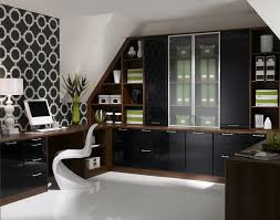 dazzling neoteric luxury home office nuance with black gloss office cupboard furniture curvy white neoteric plastic black white office contemporary home office