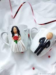 <b>Набор свадебных кружек</b> из полимерной глины – заказать на ...