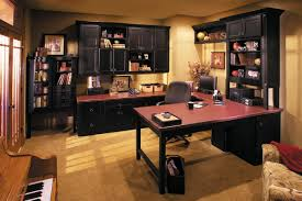 luxury interior amazing home office ideas with cherry wood office table also elegant black painted cherry cherry wood home office