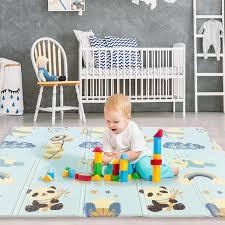 71x78 inch <b>XPE Baby</b> Play Mat Foam Crawling Folding Mat Kids ...
