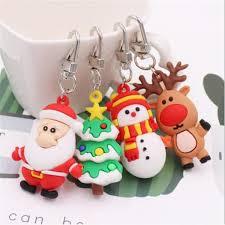 2019 <b>8 Styles</b> Santa Claus Deer Xmas Keychain <b>Key</b> Ring Gift PVC ...