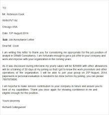 acceptance letter     free doc downloadjob offer acceptance letter