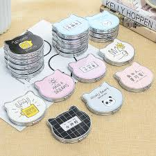<b>Cute</b> Cartoon <b>Mini Pocket Make Up</b> Mirror 5 Pcs/lot <b>Cosmetic</b> ...