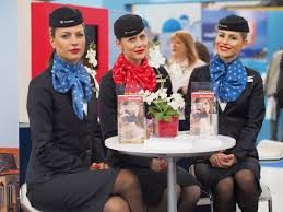 flight attendant air serbia flight attendants tourist fair belgrade 2017