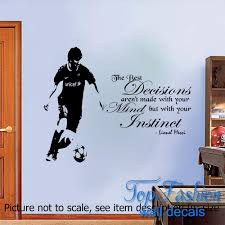 lionel messi quote wall sticker barcelona fc player wall murals vinyl decal boys bedroom decoration 3 sizes barcelona bedroom
